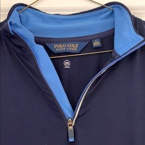 Polo Golf 1/2 Zip Performance Pullover (Navy)